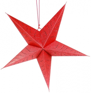 Традиционный подвесной декор Star LED 60 CM красного цвета