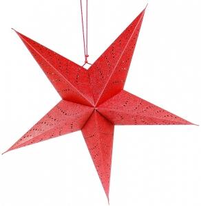 Светильник подвесной Star под лампочку E14 60X25X60 CM красный