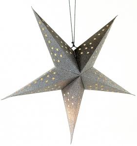 Традиционный подвесной декор Star LED 60 CM серебристого цвета