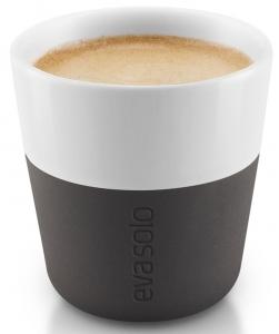 Чашки для эспрессо 2 шт 80 ml чёрные