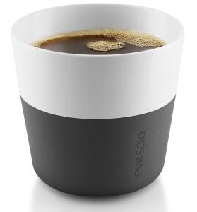 Чашки для лунго 2 шт 230 ml чёрные