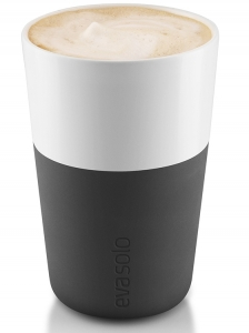 Чашки для латте 2 шт 360 ml черные