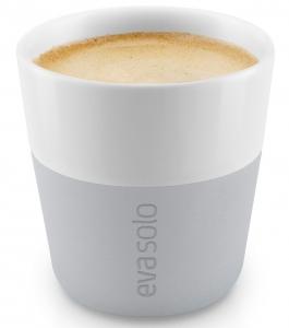 Чашки для эспрессо 2 шт 80 ml серого цвета