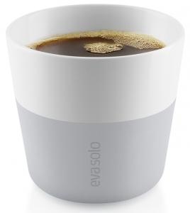 Чашки для лунго 2 шт 230 ml серые