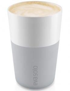 Чашки для латте 2 шт 360 ml серого цвета