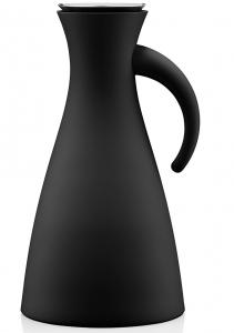 Термокувшин vacuum 1 L высокий черный матовый