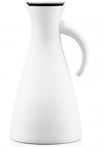 Термокувшин vacuum 1 L высокий белый матовый