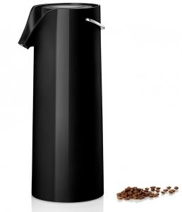 Термос с механической помпой 1800 ml чёрного цвета