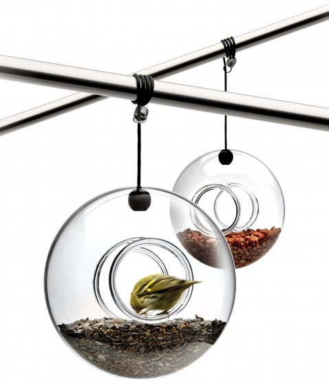 Кормушка для птиц подвесная стеклянная 1