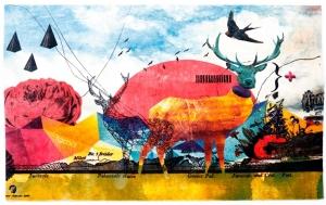 Ковёр из полиэстера Banksy Wander Edition 180X120 CM