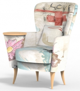 Кресло с встроенным столиком Christie 90X90X103 CM