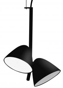 Светильник Flash LED 2L 22X22X30 CM чёрный