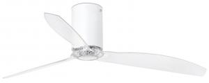 Вентилятор потолочный Mini Tube 128X128X29 CM white/transparent