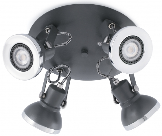 Интерьерный светильник Ring 23X23X13 CM серый 1