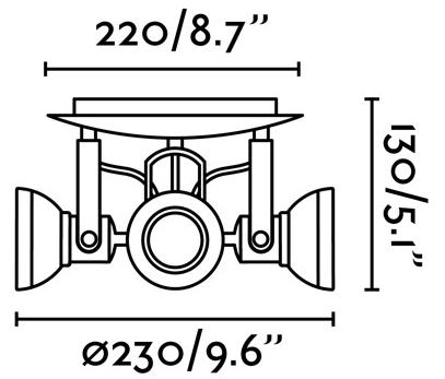 Интерьерный светильник Ring 23X23X13 CM серый 2
