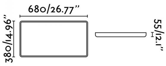 Потолочный светильник Sogo LED 68X38X6 CM 4