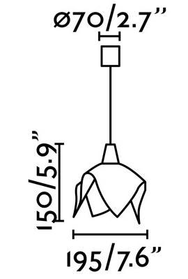 Подвесной светильник Fauna LED 20X20X15 CM синий 3