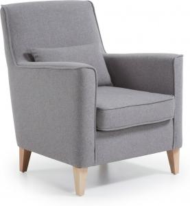 Кресло на каркасе из бука Fyna 73X81X90 серое