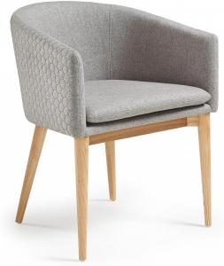 Кресло на каркасе из ясеня Harmon 59X58X74 CM серое стёганое