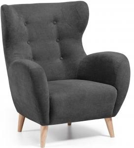 Кресло в скандинавском стиле Passo черное