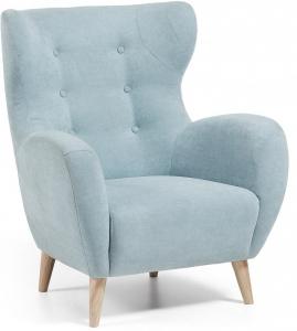 Кресло в скандинавском стиле Passo голубое