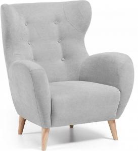 Кресло в скандинавском стиле Passo светло серое