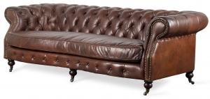 Винтажный диван в английском стиле Cambridge 225X100X70 CM