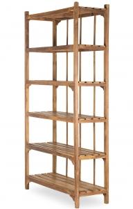 Антикварный деревянный стеллаж Vintage 123X45X230 CM