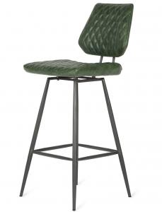 Барный стул в винтажном стиле Brighton 40X50X96 CM зелёного цвета