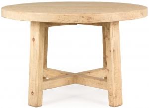 Круглый стол из массива сосны Wabi-sabi Osek 120X120X75 CM