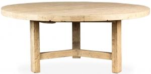 Круглый стол из массива сосны Wabi-sabi Yamck 180X180X76 CM