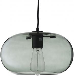 Лампа подвесная Kobe 30X30X17 CM зелёное дымчатое стекло