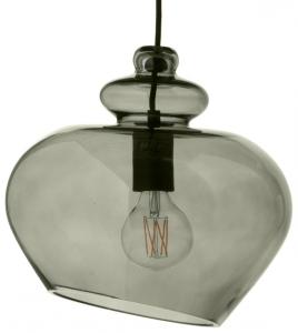 Лампа подвесная Grace 30X30X34 CM зелёное дымчатое стекло