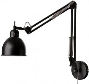 Лампа настенная Job 14X55-75X49 CM черная матовая