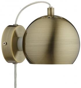 Лампа настенная Ball 12X16X10 CM античная латунь