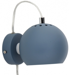 Лампа настенная Ball 12X16X10 CM тёмно-голубая