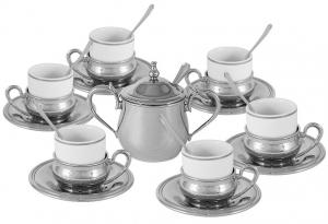 Кофейный набор на 6 персон Lux