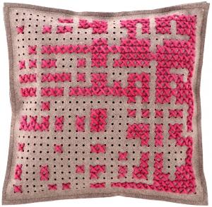 Подушка декоративная Canevas Abstract 50X50 CM розовая