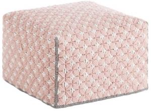 Пуф с чехлом из шерсти Silai Small 52X52X35 CM розовый