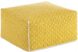 Пуф с чехлом из шерсти Silai Big 68X68X35 CM жёлтый