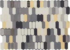 Двусторонний шерстяной ковёр Seal Yellow 144X215 CM