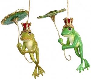 Декоративные лягушки Frog Prince Hold.Lily 13 CM