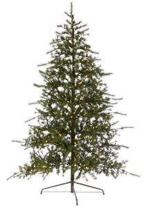 Ёлка полукруглая пристенная Pine Wall Tree 300 LED 135X67X225 CM