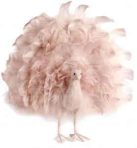 Новогоднее украшение Feath open tail Peacock 40 CM