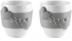 Набор из 2 чашек для кофе Love 80 ml серый