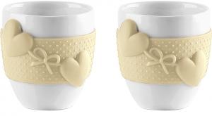 Набор из 2 чашек для кофе Love 80 ml жёлтый