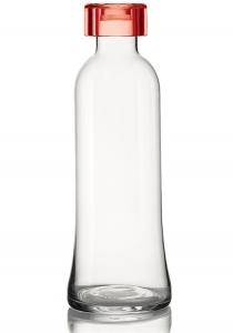 Бутылка для воды стеклянная 1 L красная