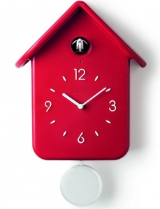 Часы с кукушкой qq 25X39X12 CM красные