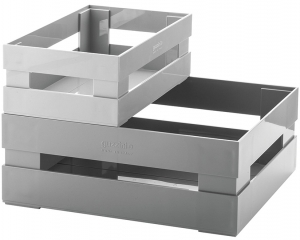 Набор из 2 ящиков Tidy & Store 31X23X12 / 23X16X8 CM серый