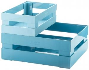 Набор из 2 ящиков Tidy & Store 31X23X12 / 23X16X8 CM голубой
